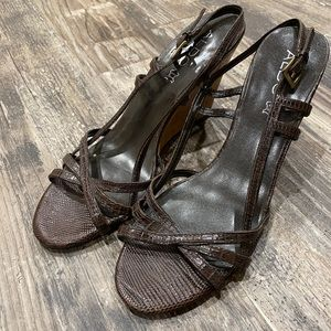 Brown Aldo wedges